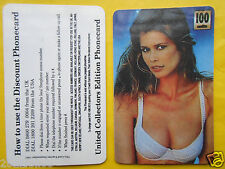 1998 phone cards 100 units cindy crawford schede telefoniche 1998 telefonkarten