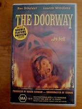 THE DOORWAY & SANCTIMONY Double Feature Horror VHS Video Rare Preview Tape