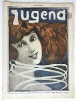 Pretty Young Woman Jugend Magazine 1896 Issue 24 Jugenstil Art Nouveau graphics