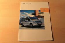 00598) Opel Vivaro Life Prospekt 06/2003