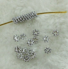 200Pcs 4mm Gold/Sliver Plated Tiny Daisy Metal Spacer Beads DIY Jewelry Findings
