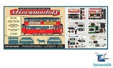 1953 Vintage Micromodels Set TR1 London Metropolitan Tram Cars 2/6d