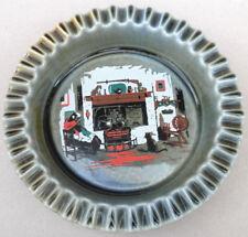 """Wade Ireland Ashtray 6"""" Irish Porcelain Goat Fireside Scene Wine Bottle Coaster"""