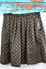 DKNY Skirt Silk Women's Size 4 Career Floral Pleated Above Knee NWT MSRP $195
