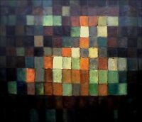 Paul Klee Ancient Sound Repro, Hand Painted Oil Painting 20x24in