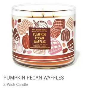 Bath & Body Works Pumpkin Pecan Waffles 3-Wick Candle Large 14.5 Oz Made With...