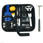 14pcs Watch Repair Tools Kit Opener Link Remover Spring Bar Hammer w/ Carry Case
