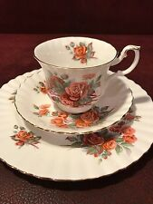 "BEAUTIFUL ROYAL ALBERT ""Centennial Rose"" CUP, SAUCER & PLATE TRIO ENGLAND"
