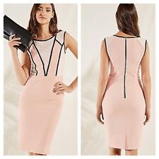 Look Again Size 12 Nude Bodycon DRESS £54 Xmas Party Evening Occasion Races New