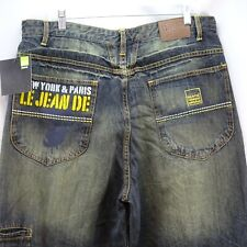 Marithe Francois Girbaud Jeans NWT 38 Blue Brand X Leg Embroidered