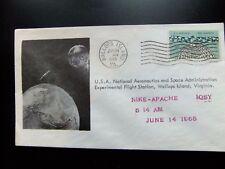 Enveloppe conquête spatiale américaine 14 6 1965, Wallops Island, Flight Station