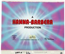 Laff-A-Lympics (1977) Production Cel & Key Background Main Title Hanna Barbera