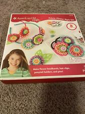 American Girl Crafts Kit Fabric Flower Style Set New Clips Hairbands