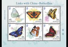 Jersey 2017 - Links with China – Butterflies sheet mnh