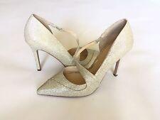 NWOB Jessica Simpson Metallic Gold Sparkle Mesh Pump Stiletto Size7.5 Strappy
