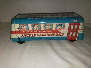 """VINTAGE 1950's TV SHOW JACKIE GLEASON HONEYMOONERS TOY BUS 14"""" GREAT LITHOGRAPH"""