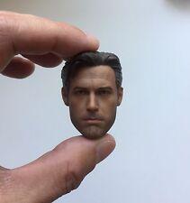 █ Custom first Ben Affleck 1/6 Head Sculpt for Hot Toys Bruce Wayne Body █