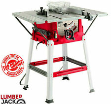 "Lumberjack 8"" 240v Bench Table Saw with Stand Side Extensions Fence & TCT Blade"