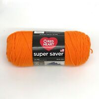 Red Heart Super Saver yarn- orange colors - worsted weight - 7 oz. - 364 yds.