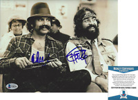 CHEECH MARIN & TOMMY CHONG SIGNED UP IN SMOKE 8x10 MOVIE PHOTO F BECKETT COA BAS