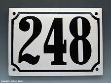 EMAILLE, EMAIL-HAUSNUMMER 248 in SCHWARZ/WEISS um 1960