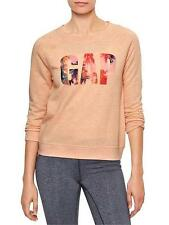 GAP Women's Cotton Blend Long Sleeve Sleeve Sweatshirt, Crew Sweats & Hoodies