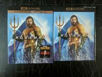 Aquaman 4K Ultra HD New Jason Momoa Amber Heard Patrick Wilson with Slipcase