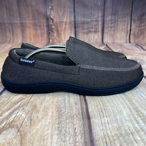 Isotoner Moccasin Style Slippers Men Size 12/13 Slip On House Shoes - NEW