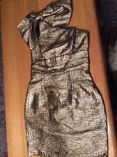 topshop  Gold Lurex  dress new size 12 RRP £69