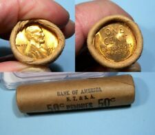 1954-S OBW WHEAT CENT ROLL BANK OF AMERCIA #2 24-5