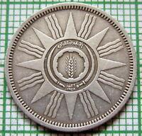 I R A Q REPUBLIC 1959 - AH1379 25 FILS, SILVER ONE YEAR TYPE