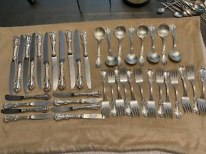 Sterling  silver by Reed & Barton -70 pieces  - BURGUNDY pattern -  1949—no mono