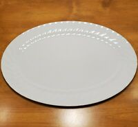 Lynn's China Imperial Dinnerware Serving Platter 14 x 9.5 Turkey White Scalloped