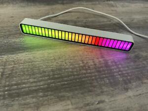 LED-Sound Activated Pickup Rhythm Light Strip Music Light RGB Colorful Tube`Lamp