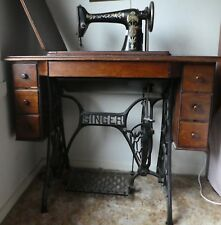 Antique SINGER Sewing Machine and Cabinet