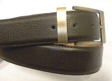 Marco Valentino Dark Expresso Brown Leather Belt Size 46