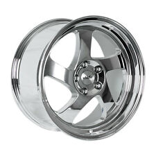 18x9.5 Whistler KR1 5x100mm +35 Chrome Wheel Aggressive Fits Brz Impreza Neon Tc