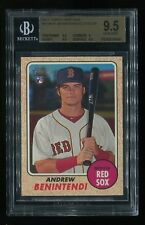 2017 Topps Heritage Andrew Benintendi Action SP RC GEM MINT BGS 9.5 Red Sox