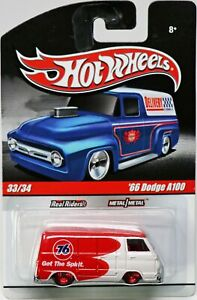 Hot Wheels '66 Dodge A100 Delivery Series #R3754 New NRFP 2009 White/Red 1:64