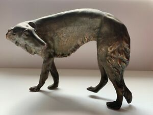 Exquisite Borzoi/Russian Wolfhound Dog Sculpture by Jennings Brothers JB2921