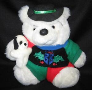 "Vintage Dayton Hudson Plush BULLY BEAR Santa Bear w/ Tags 1990 Collectible 12"""
