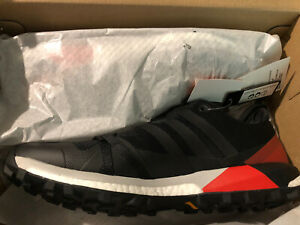 adidas Terrex Agravic Boost Black Red Hiking Trail Shoes Men's 10