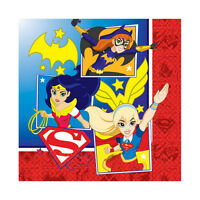 16 X Dc Super Héros Filles Serviette de Table Fête Wonder Woman Supergirl