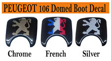 PEUGEOT 106 BOOT LOCK BADGE RESIN DOMED DECAL GLOSS FINISH FREE POST