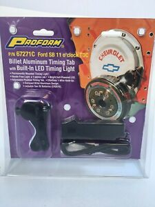 Proform Billet Adjustable Timing Tab w/ LED Fits SB Ford - PN67271C