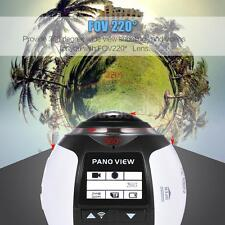 WiFi HD 360° GEAR Panoramic 3D VR Digital Video Action Camera DV Camcorder W4N1