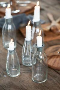 Ib Laursen Glasflasche Flasche losem Kerzeneinsatz Kerzenhalter klein