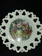 Colonial Courting Couple Wall Pocket