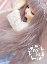 Bjd Doll Parrucca 1/4 7-8 SD MSD AOD DZ LUTS Dollfie gray pink Toy Head Hair