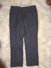 JCrew $128 Bowery Urban Classic Fit Wool Pants Sz 38/34 Charcoal Grey 44448 NEW